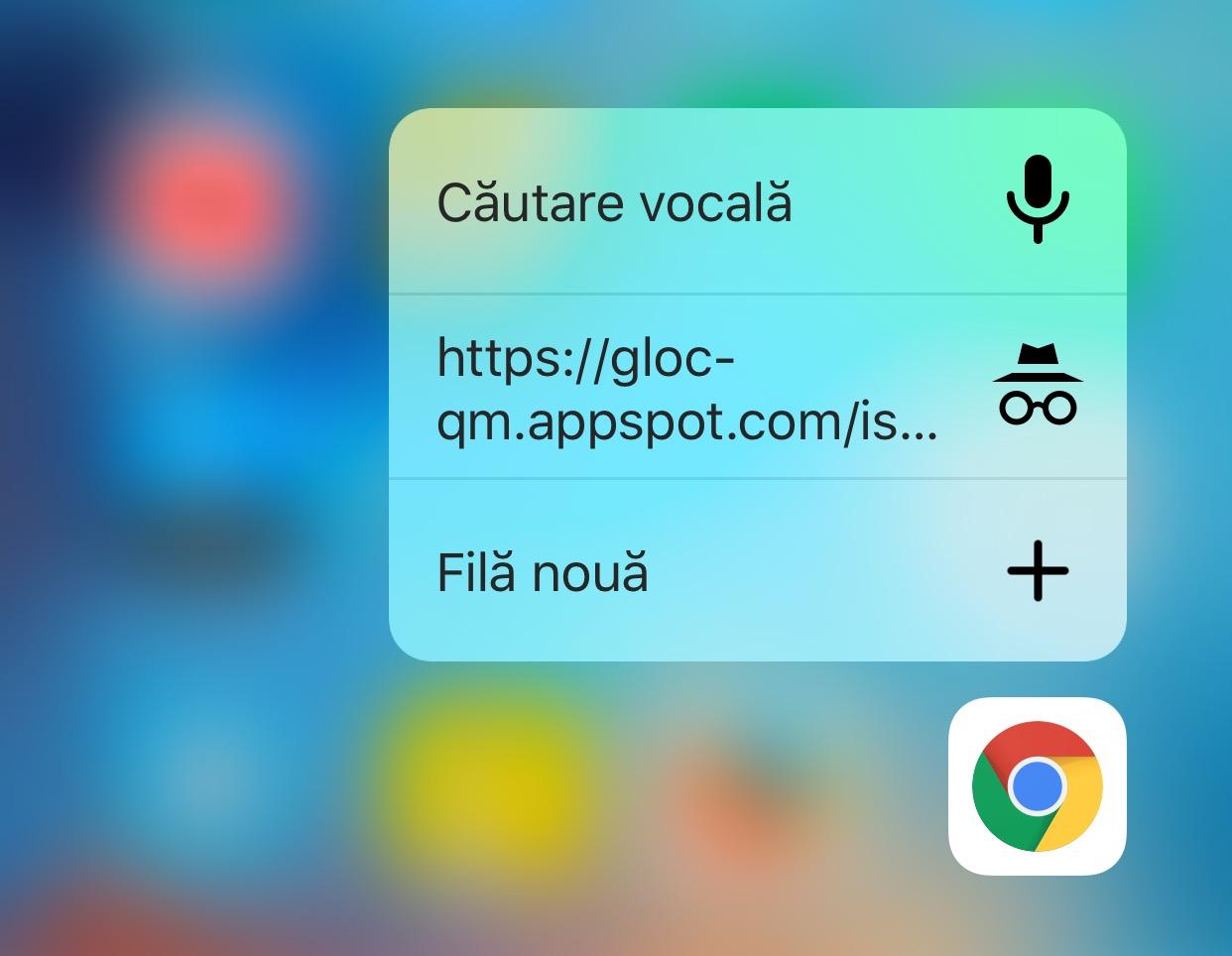 Google Chrome 3D Touch