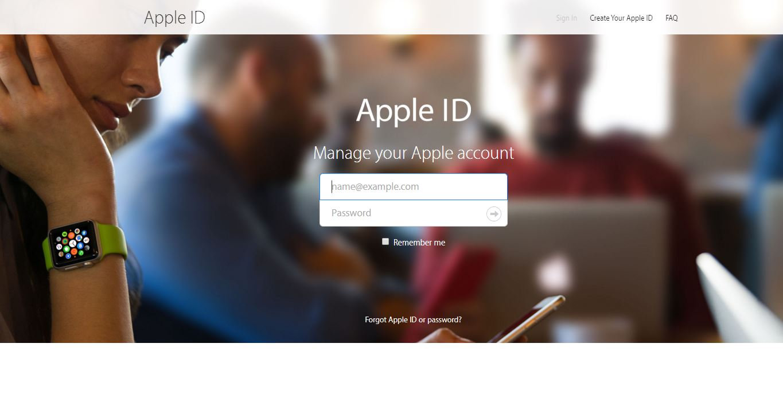 design website Apple ID