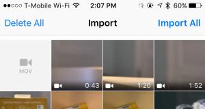 iOS 9.2 import filme USB