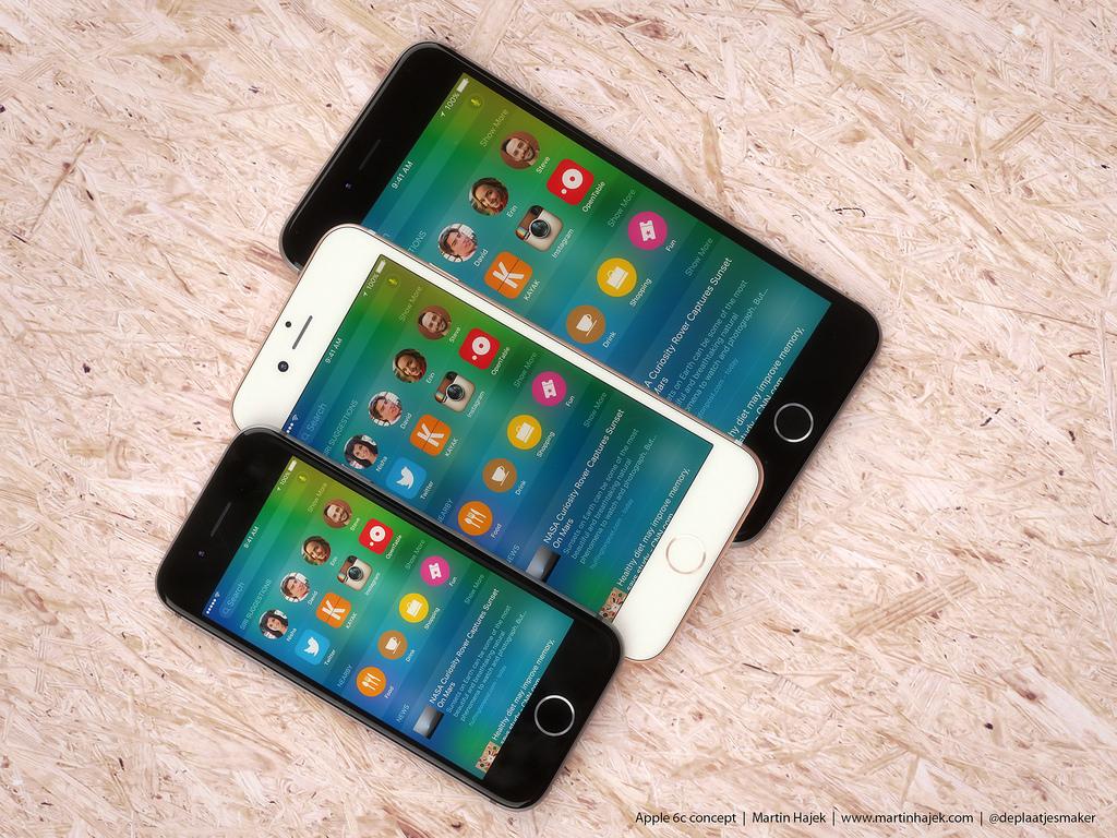 iPhone 6C februarie aluminiu colorat
