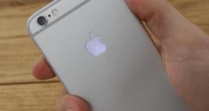 logo iluminat iPhone 6S