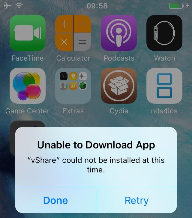nu merge vShare instalare aplicatii piratate