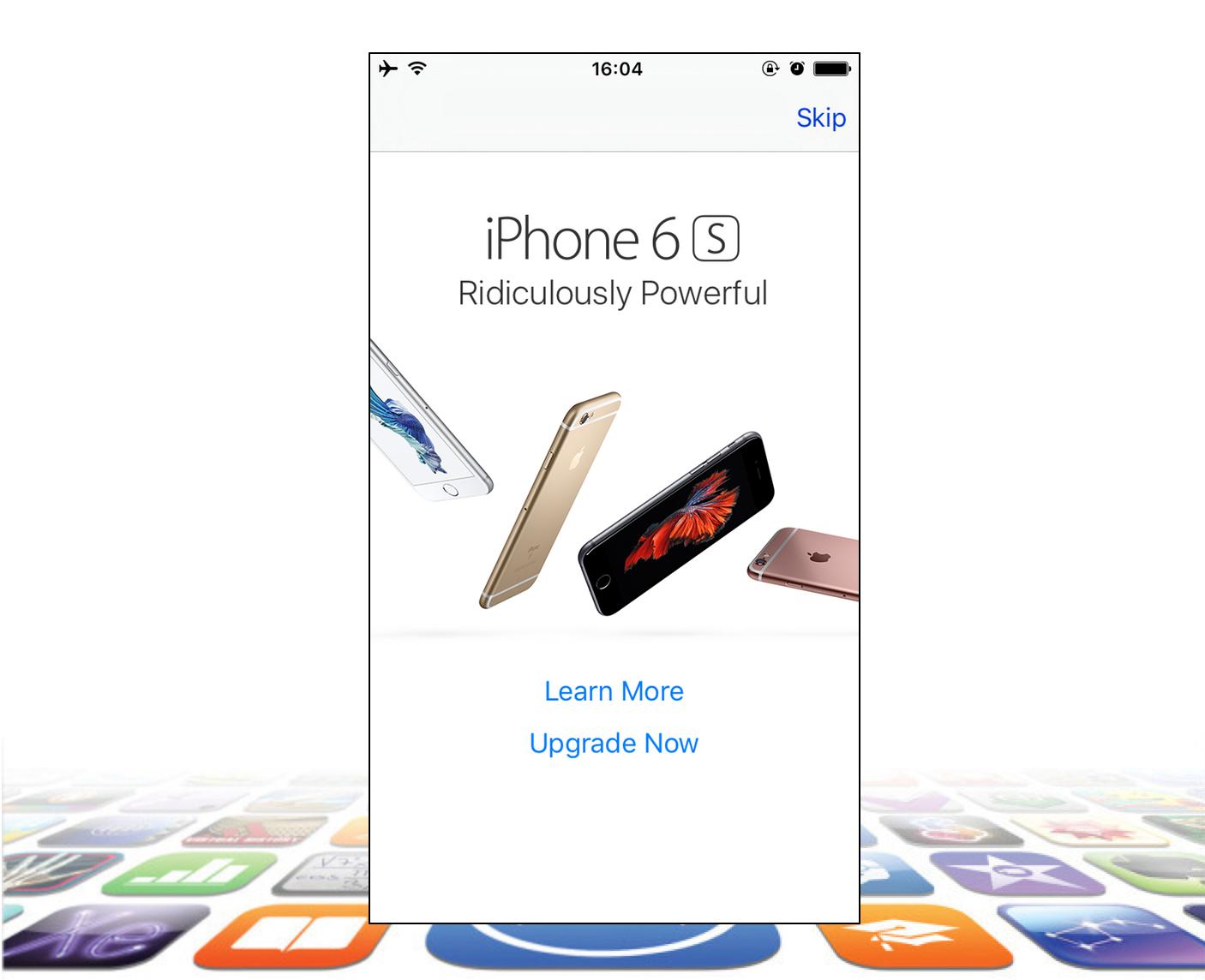 reclama iPhone 6S Spp Store