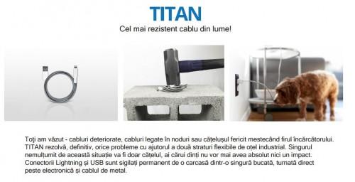 titan cablu rezistent iPhone