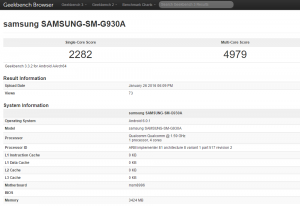 benchmark Samsung Galaxy S7