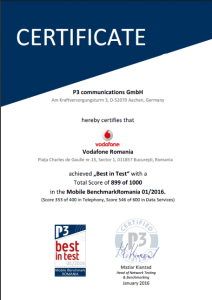 certificare vodafone p3 Communcations