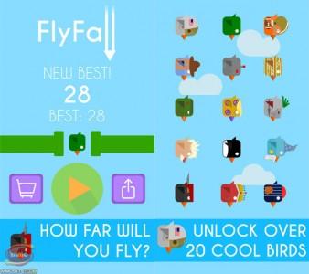 flyfall endless fall joc ios gratuit