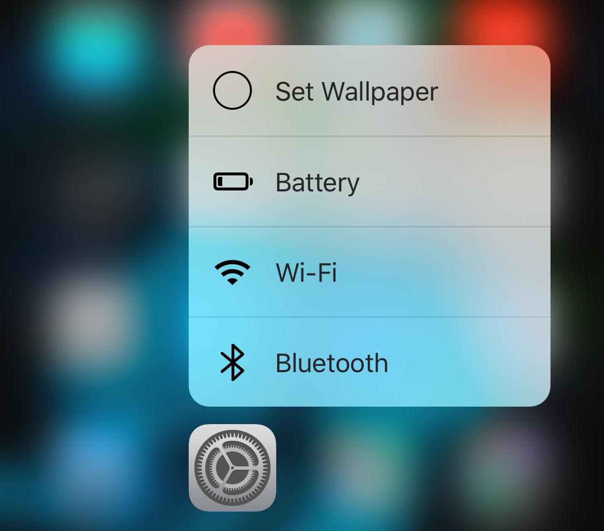 iOS 9.3 scurtaturi 3D Touch