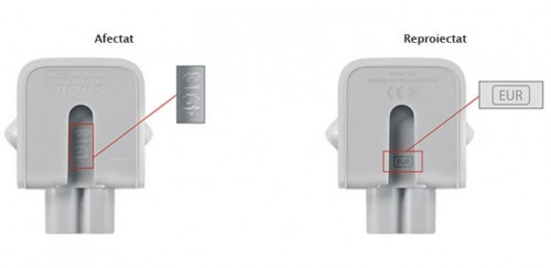 identifica adaptor Apple defect reproiectat