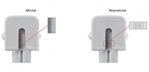 identifica adaptor Apple defect reproiectat
