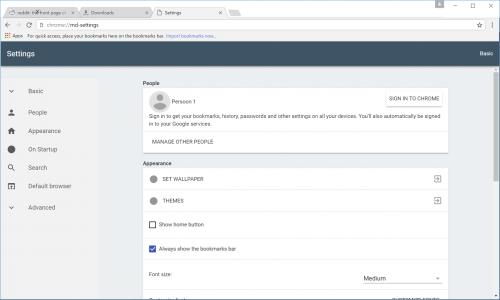 imagini design nou Google Chrome 4