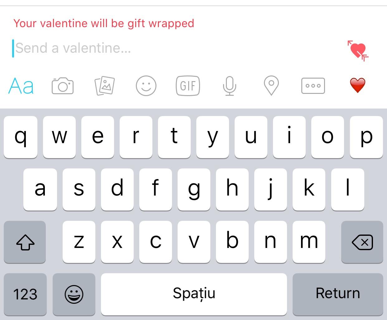 Facebook Messenger Valentine's Day 2016
