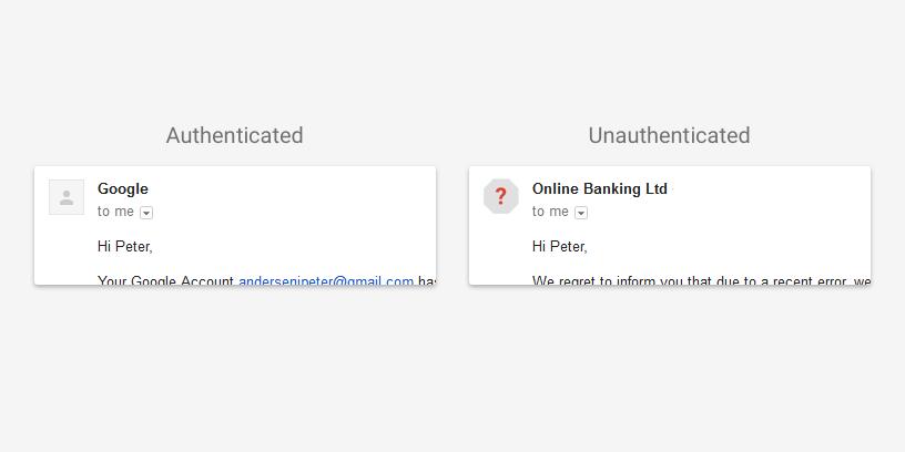 GMail indicator siguranta email