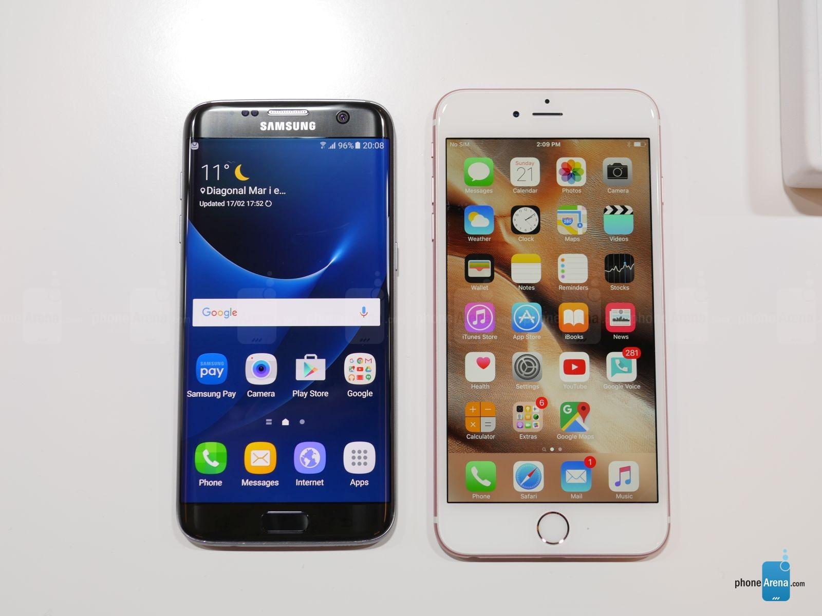 samsung galaxy s7 edge vs iphone 6