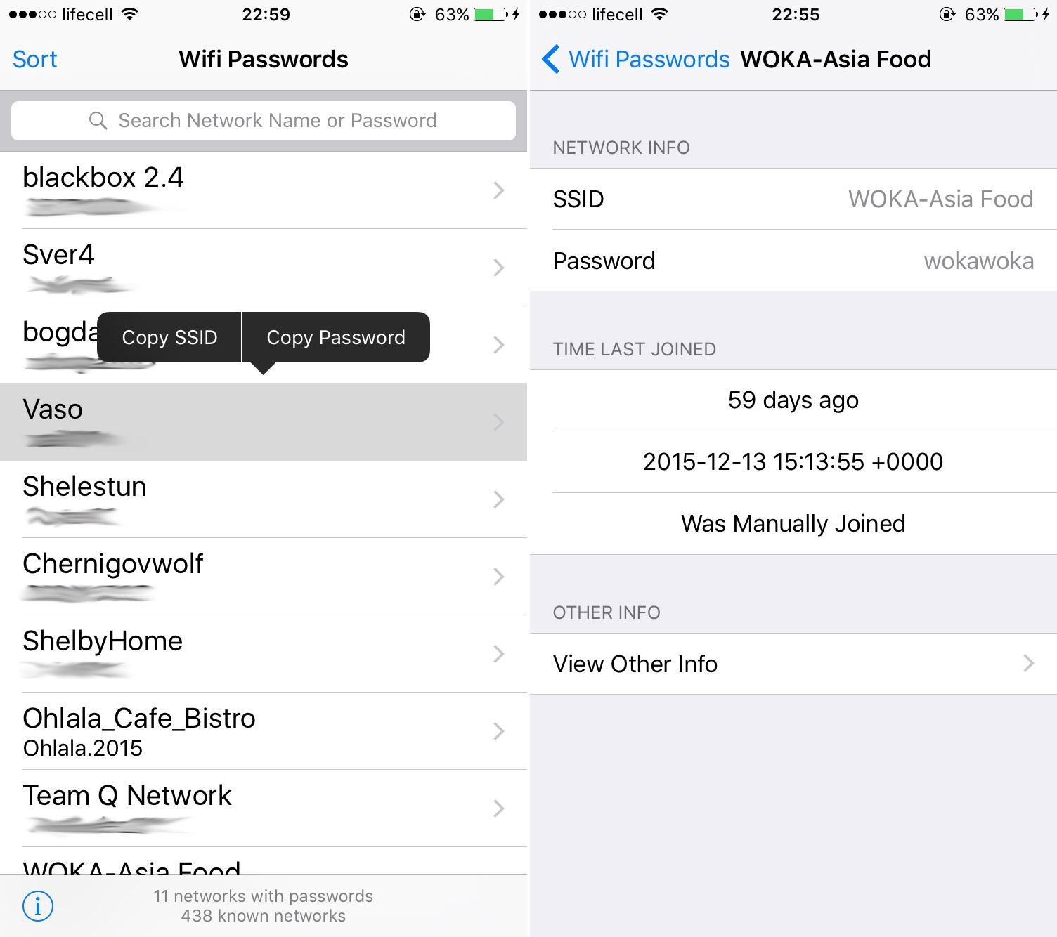 Wifi Passwords List