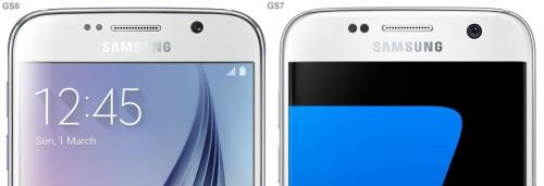diferente Samsung Galaxy S7 Samsung Galaxy S6