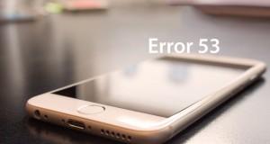 rezolva eroare 53 iPhone iPad