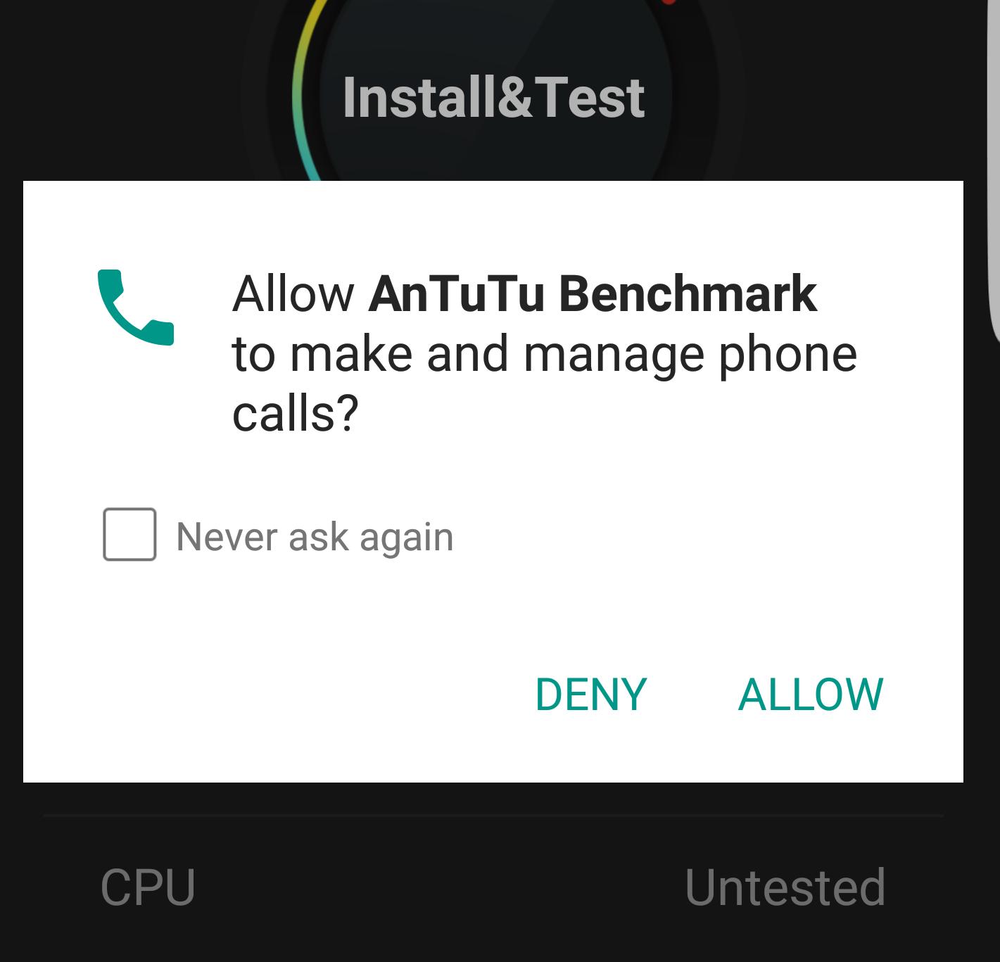 AnTuTu acces apeluri telefonice