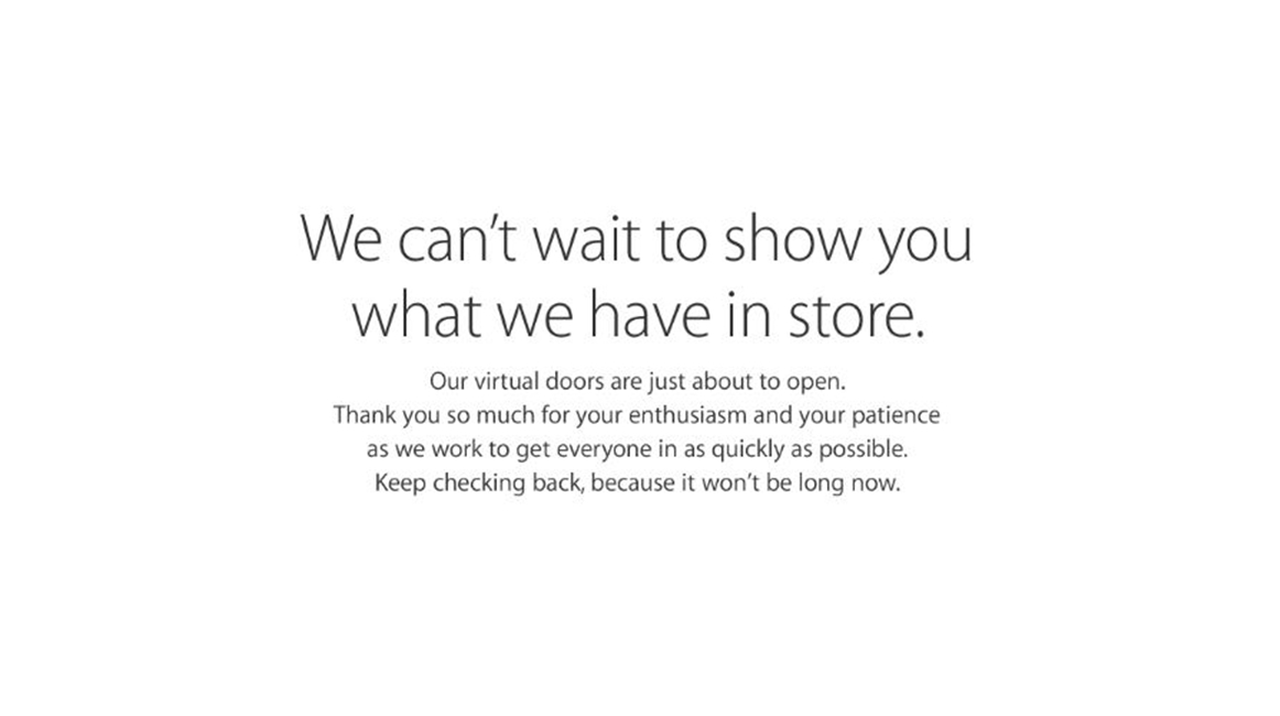 Apple Store Online inchis precomenzi