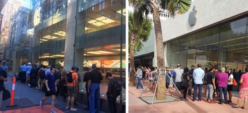 Coada Apple Store Sydney si Miami