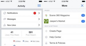 Facebook Pages Manager update