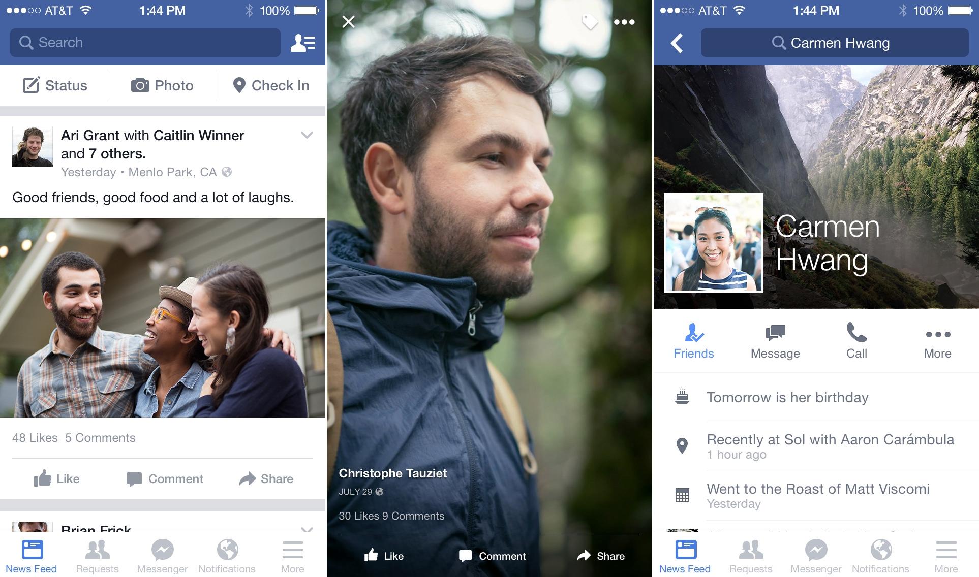 Facebook actualizare iOS