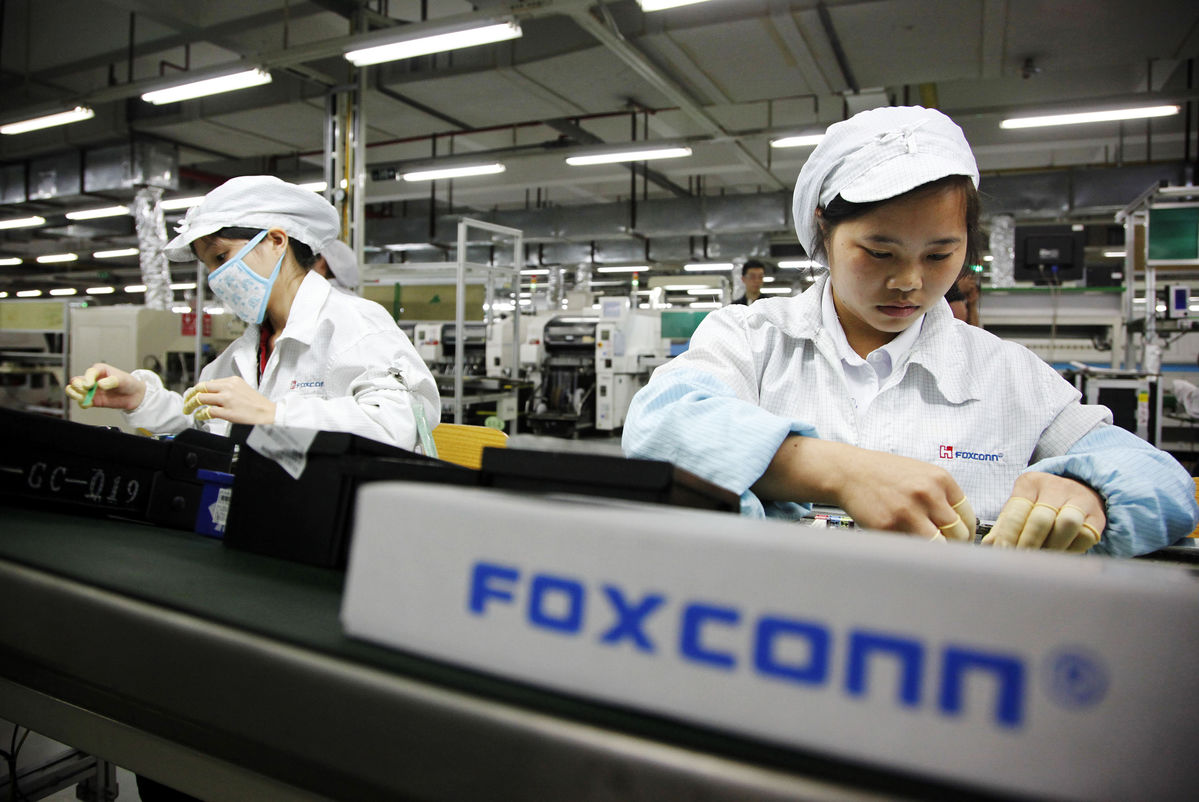 Foxconn dependenta Apple