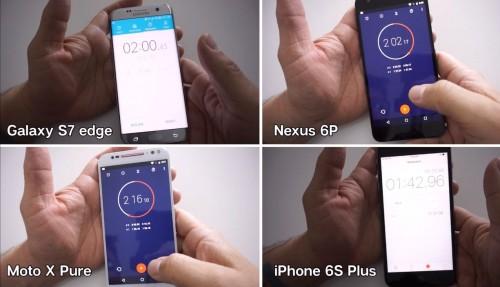 Galaxy S7 edge, iPhone 6s Plus, Nexus 6P, Moto X Pure 1