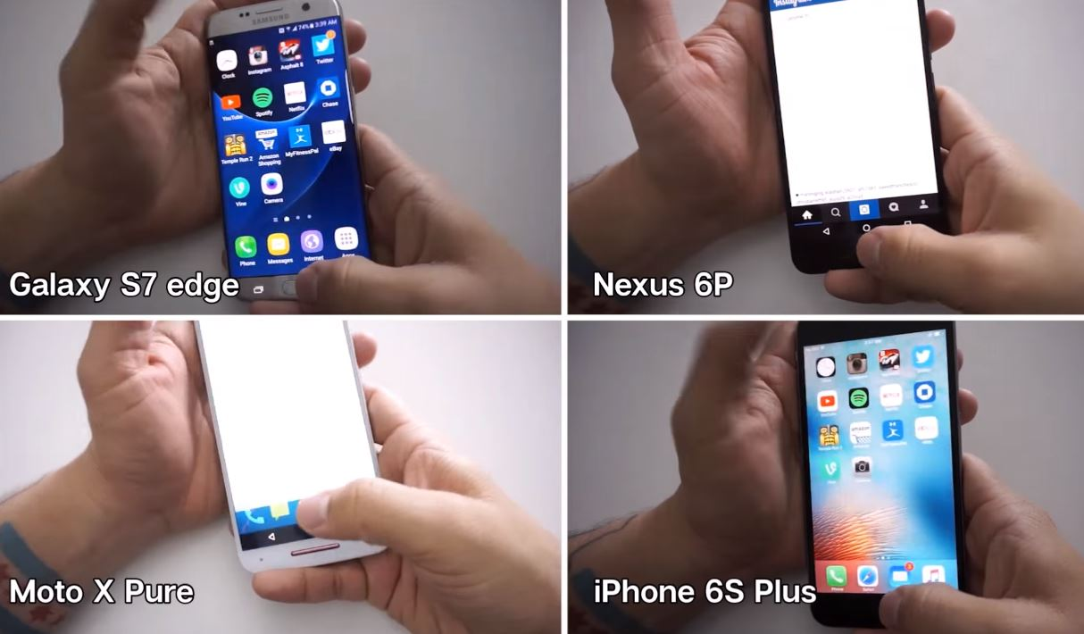 Galaxy S7 edge, iPhone 6s Plus, Nexus 6P, Moto X Pure