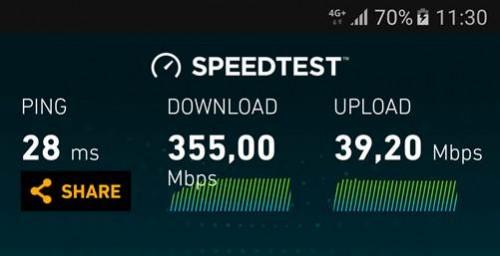 Orange 4G+ 375 Mbps