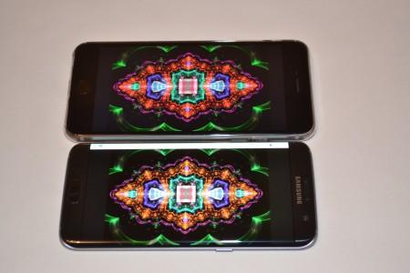 Samsung Galaxy S7 Edge comparatie ecran iPhone 1