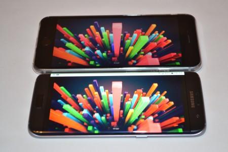 Samsung Galaxy S7 Edge comparatie ecran iPhone 2