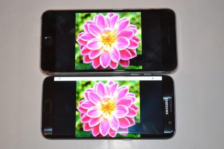 Samsung Galaxy S7 Edge comparatie ecran iPhone