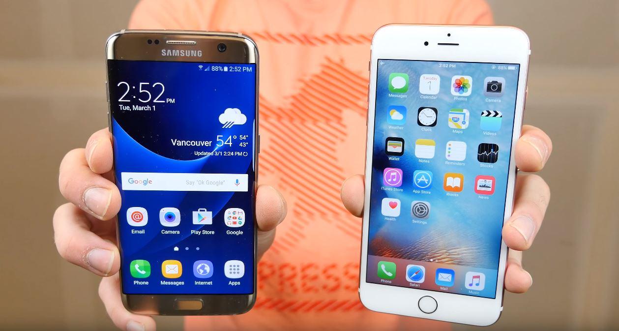 Samsung Galaxy S7 Edge vs iPhone 6S Plus Drop Test - iDevice.ro