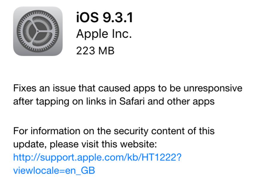 descarca iOS 9.3.1