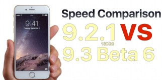 iOS 9.2.1 vs iOS 9.3 beta 6 performante
