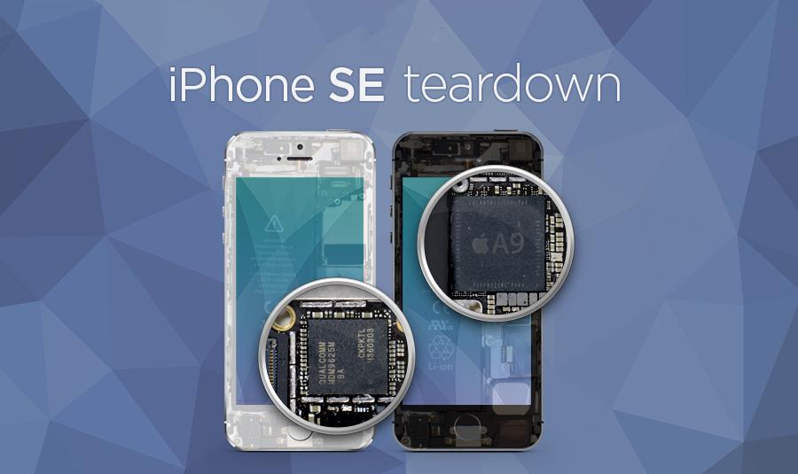 iPhone SE dezasamblat