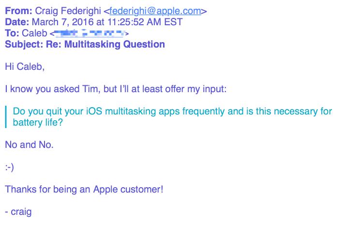 multitasking iOS