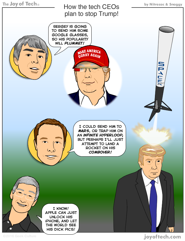 oprire trump comic
