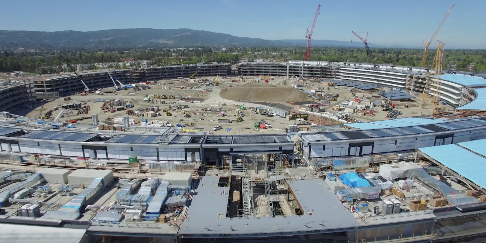 Apple Campus 2 constructie aprilie 2016