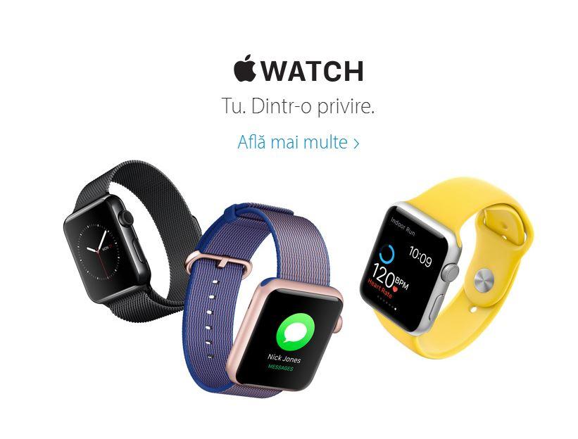 Apple Watch lansare Romania