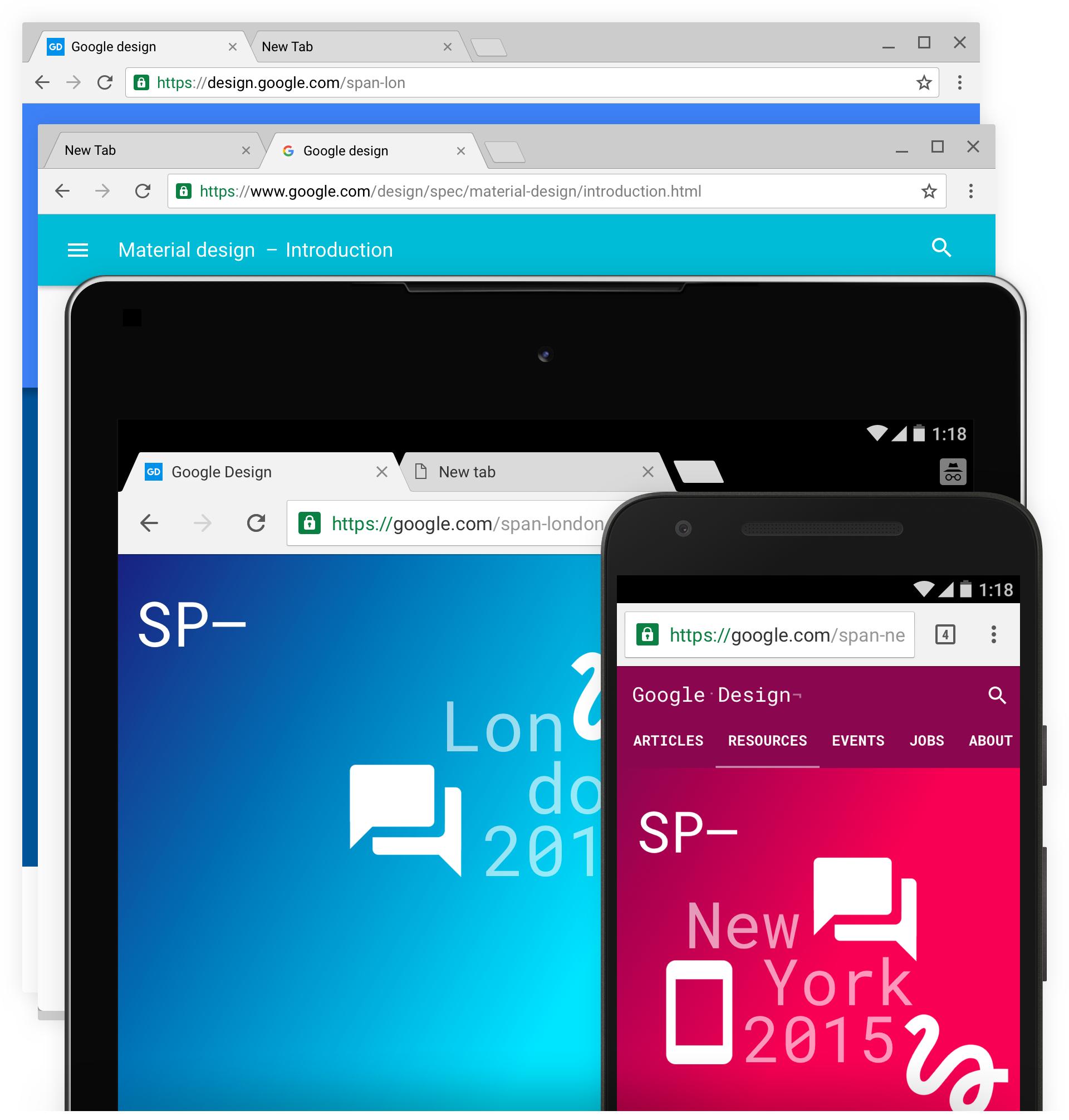 Google Chrome design nou 1