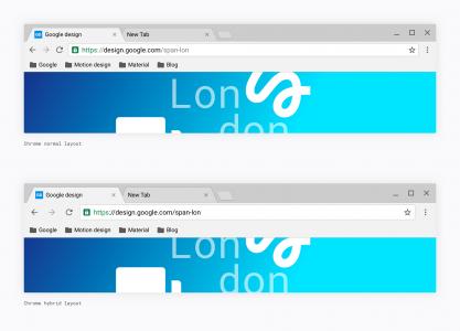 Google Chrome design nou 3