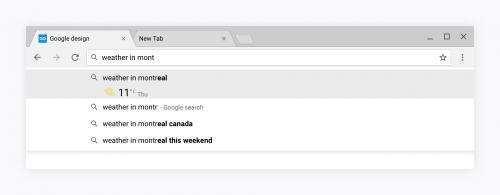Google Chrome design nou 6