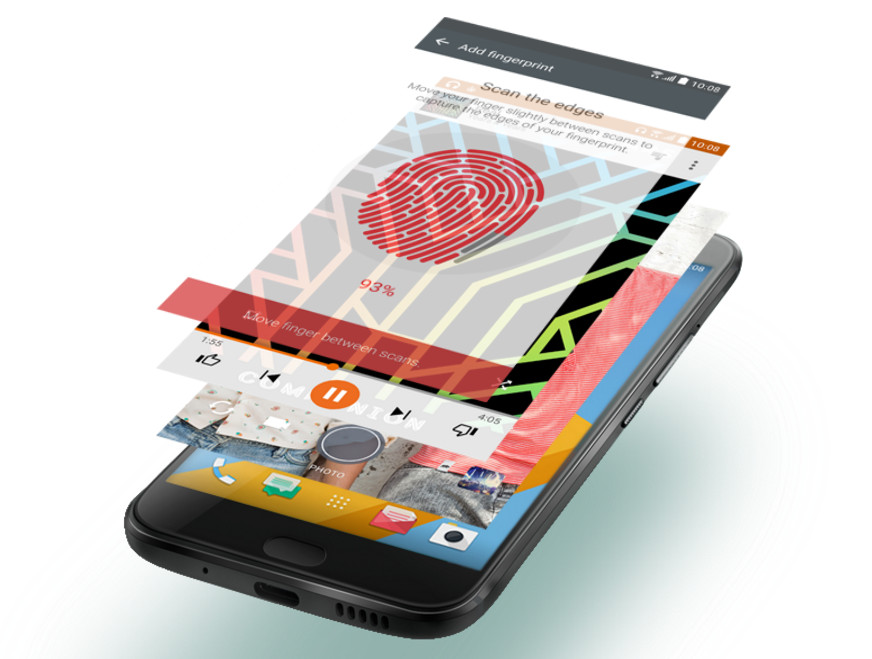 HTC 10 cititor de amprente