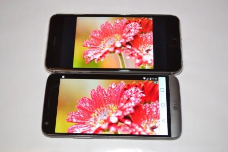 LG G5 ecran iPhone 6S Plus 2