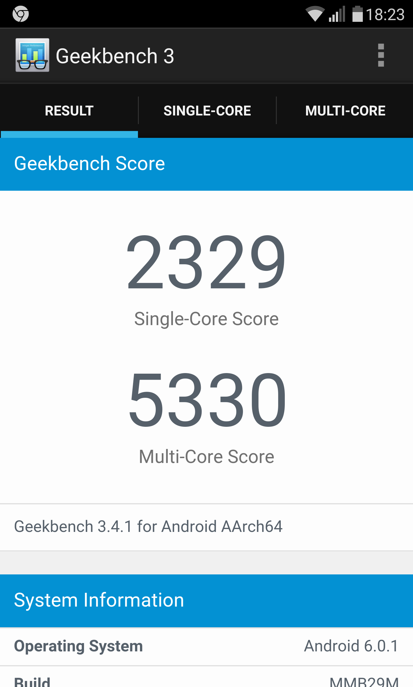 LG G5 geekbench performante
