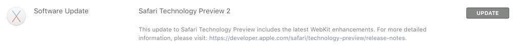 Safari Technology Preview update