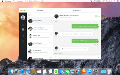 WhatsApp Messenger Mac