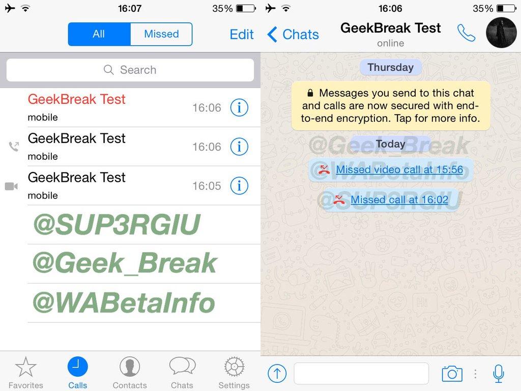 WhatsApp Messenger apeluri video 1